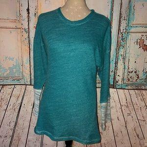 N NATORI~Aqua Crewneck Tonal Lounge Sweatshirt~S
